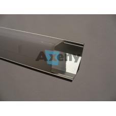 Ъглов профил за LED лента, объл мат, 3 метра / 2броя тапи+4броя скоби / 10001