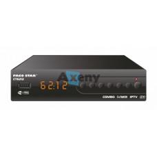 HD приемник за кабелна, ефирна и IP телевизия- CT6212 комбо