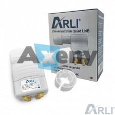 Конвертор четворен /4 изхода/ LNB ARLI Quad Slim Gold